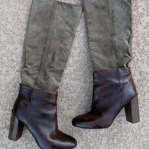 Vince. Corrine Suede Leather Knee High Pull On 6.5